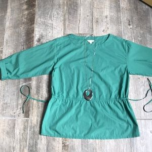 Gap women's size medium green poplin tie waist top